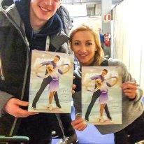 Aljona und Bruno mit ihrem Titelfoto auf der aktuellen Pirouette. Startplatz 26 im KP