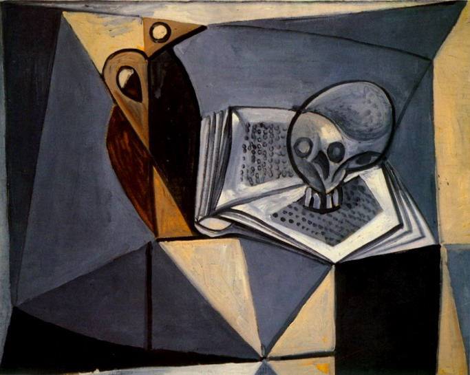 modern blue chair linen hero by covers and linens pablo picasso — skull book (tete de mort book), 1946