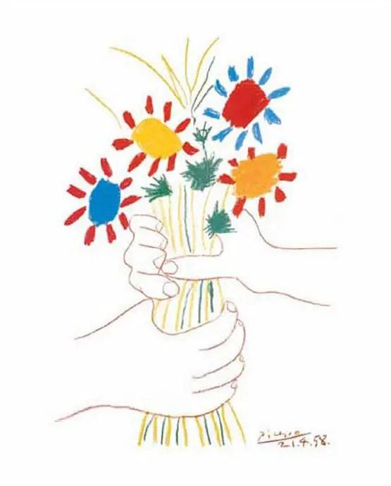Pablo Picasso. Little Flowers, 1958