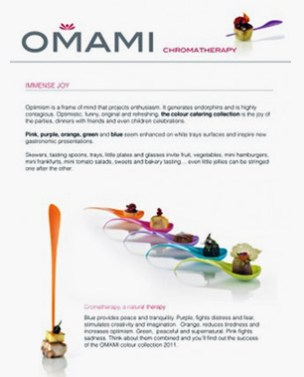Online newsletters for Omami, a catering company - Newsletters online para la empresa de catering Omami