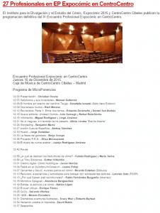 la guia del comic 27 Profesionales en EP Expocómic en CentroCentro