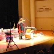 Pablo Nahual tocando el Mohoceño en el Palau de la Musica de Valencia