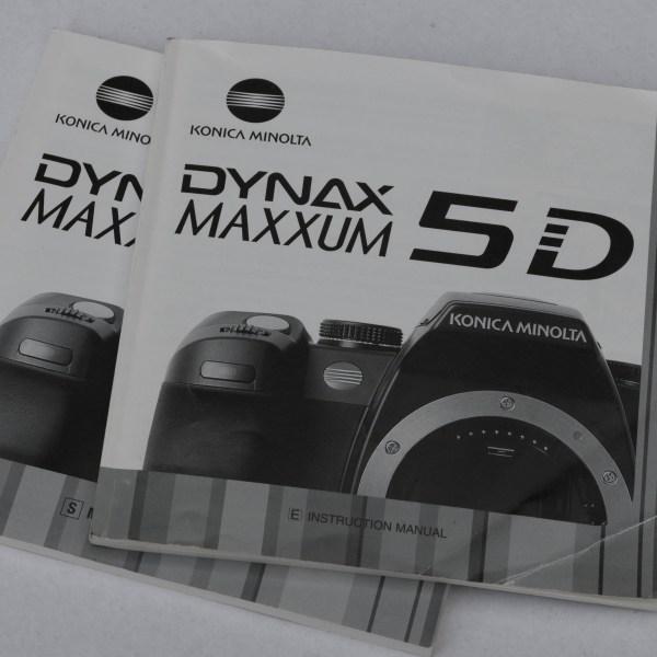 Minolta Dynax 5D - handleiding