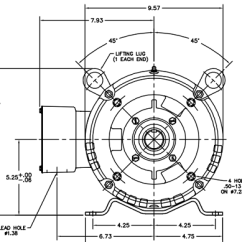 Baldor Motor Wiring Diagrams 3 Phase 4 Wire Well Pump Diagram 10 Hp - Frame: 215tc (odp)