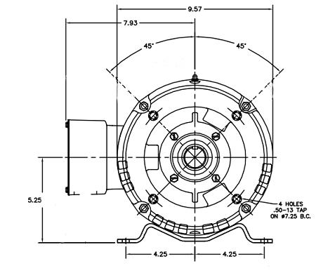 10 Hp Motor, Frame: 215TC (ODP) Cat: CEM3313T