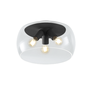 Plafonnier bulle en verre VALENTE noir
