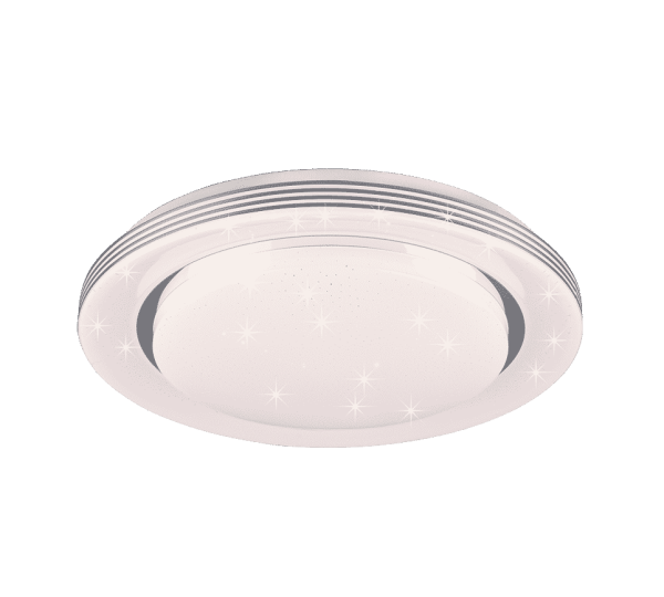 Plafonnier rond effet étoilé SMD LED, 22W · 1x 2200lm, 3000 – 6000K ATRIA