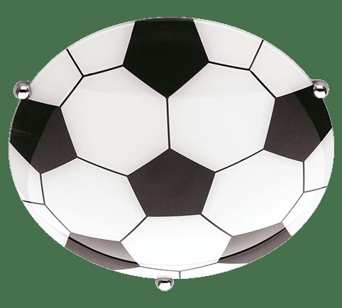 Plafonnier ballon de foot en verre sans ampoules
