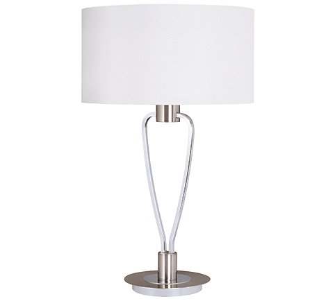 Lampe de table Moderne Design, Laiton Mat & Nickel Mat, sans ampoule(s)