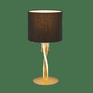 Lampe de table Design metale & tissu, Or, 2x SMD LED, 3W · 2x 300lm, 3000K sans ampoule