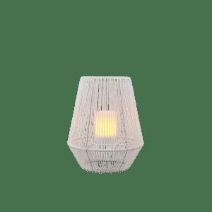 Lampe de table extérieur blanche, Solaire, effet flamme, version petite