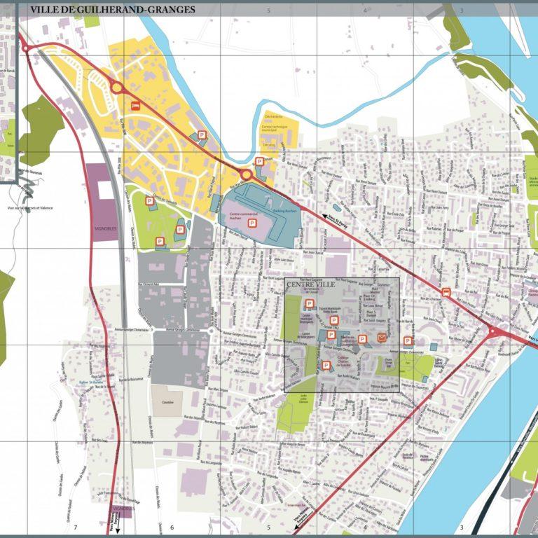 Plan Guilherand-Granges - Guillaume Sciaux - Cartographe professionnel