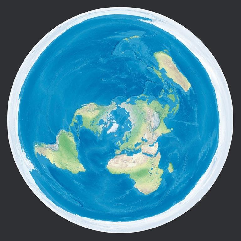 La Terre en projection azimutale équidistante - Guillaume Sciaux - Cartographe professionnel