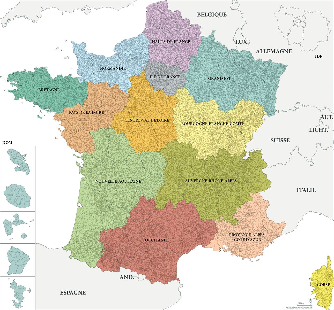Fond de carte France - Communes - Guillaume Sciaux - Cartographe professionnel