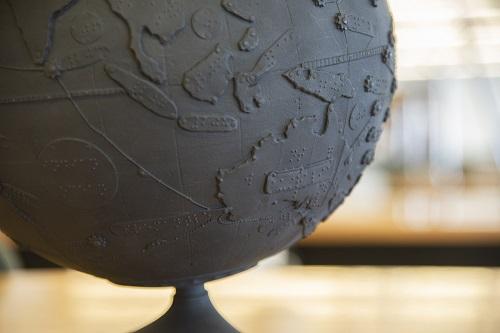Globe braille Tunley 3 - Guillaume Sciaux - Cartographe professionnel