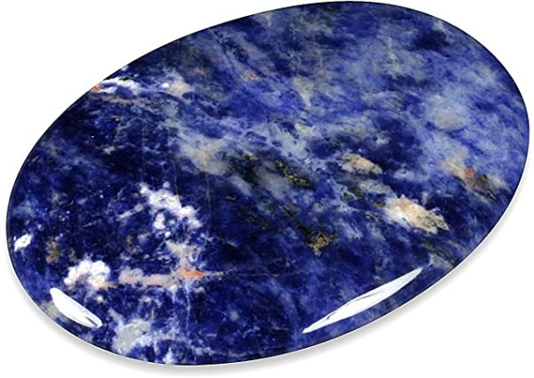Pierre agate teinte bleue