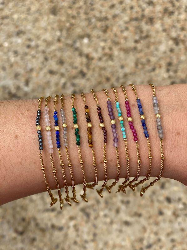 Bracelet signe du zodiac / astro avec pierres lithothérapie