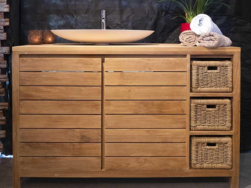 salles de bain mobilier teck massif