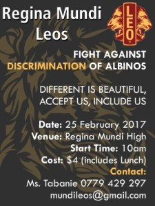 Regina Mundi Leo Club Campaign @ Regina Mundi High School