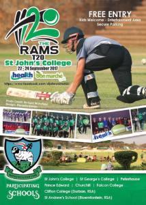 St John's T20 Ram Slam Festival @ St. John's College