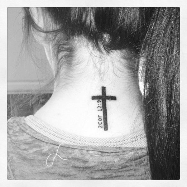 Three Cross Tattoo On Neck Meaning