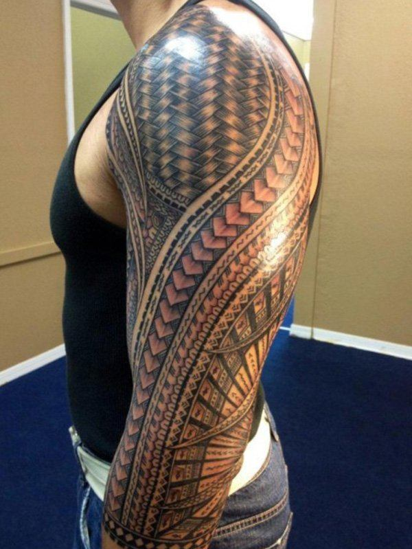 Tribal Warrior Tattoo Designs For Men Arms