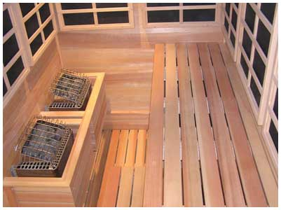 Custom Saunas Infrared Therapy Room Wine Cellar