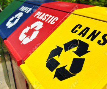 13004972-Recycling-bins-for-cans-plastic-and-paper-waste-Stock-Photo-recycling-bin-recycle