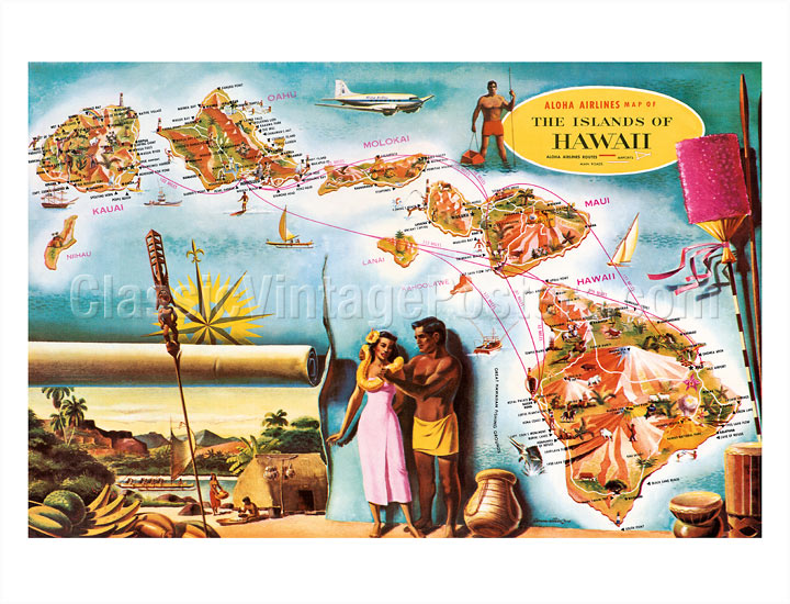 art prints posters aloha airlines