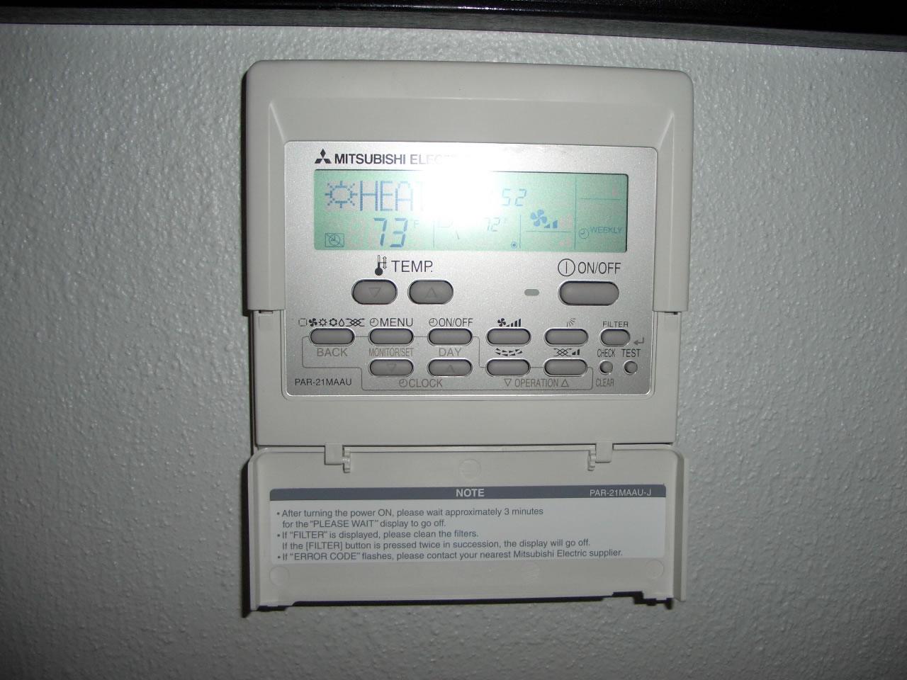 Mitsubishi Mr Slim Par 20maa Remote Controller Air Conditioner