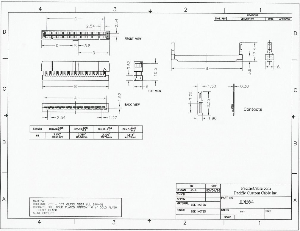 IDE64_Drawing hp 6 pin mini din connector wire schematic