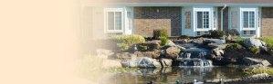 Website Slider. Outdoor Garden Area