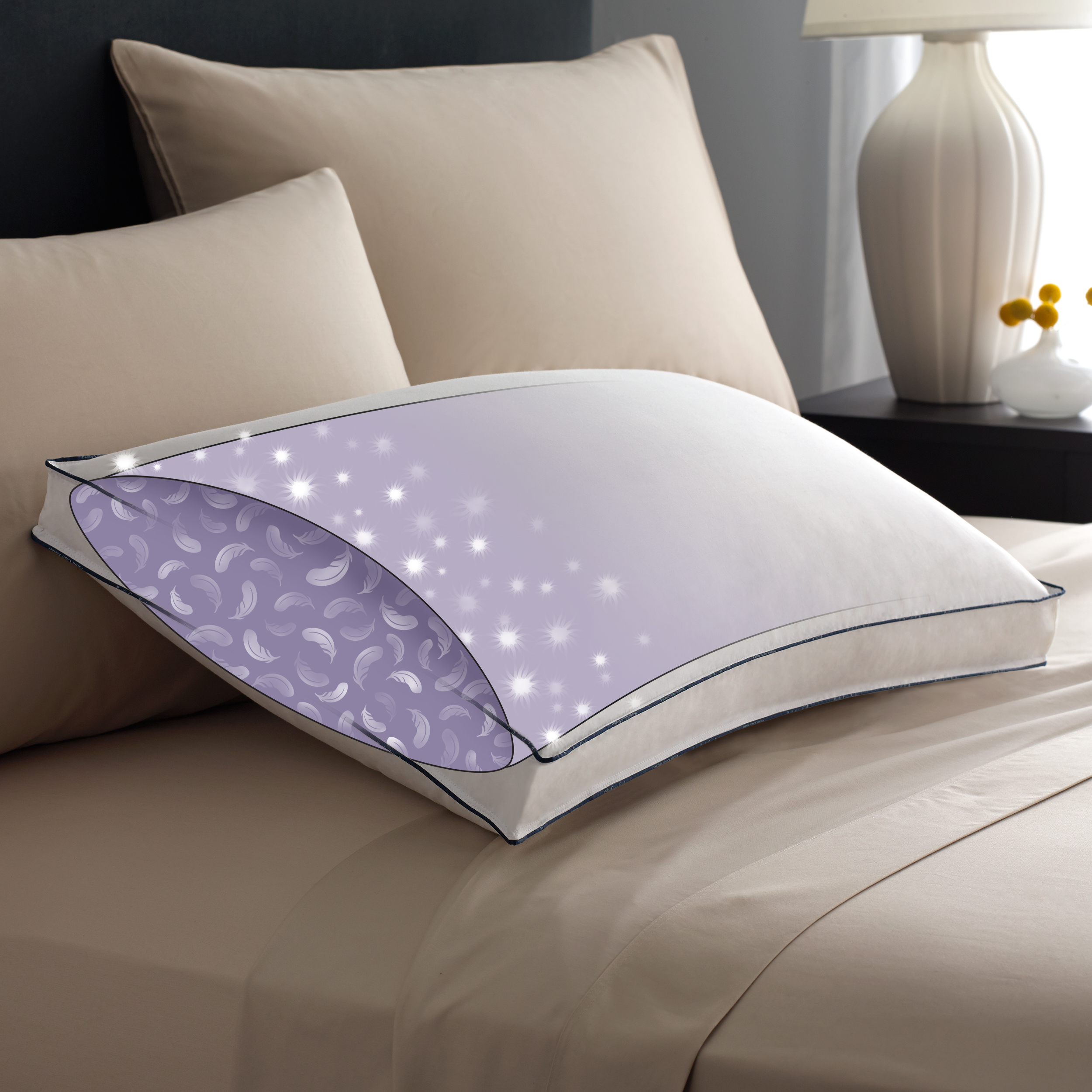 Firm Down Pillows  Pacific Coast Bedding