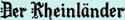 logo: Der Rheinlander | Pacific Coast Hospitality Restaurant Recruitment