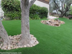 Backyard Landscaping with Artificial Turf