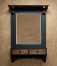 Framed Entry Mirror With Hooks | Costa Rican Furniture