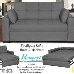 Newport Sofa Convertible Bed Mid Century Sleeper Sofas Serta Twin Energywarden