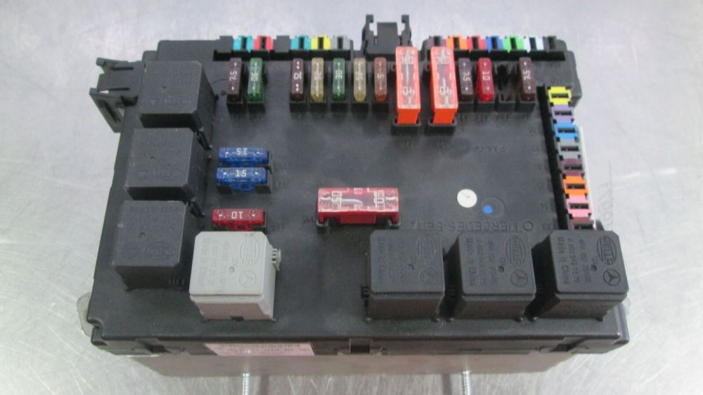 medium resolution of rear trunk fuse box block 2215406450 mercedes s550