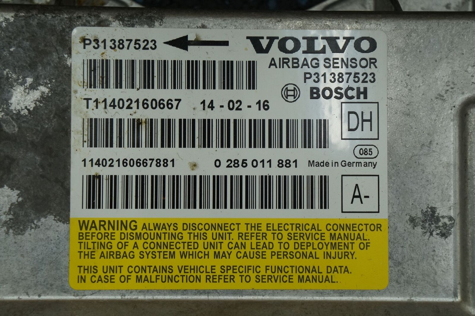 hight resolution of airbag restraint system sensor control