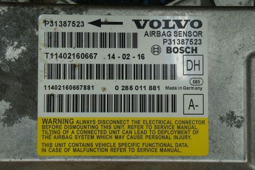 small resolution of airbag restraint system sensor control