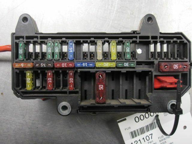 rear trunk power distribution fuse box block 61136900583 bmw 745i rh pacificmotors com 2002 BMW 745I Problems 2002 BMW 745I Interior