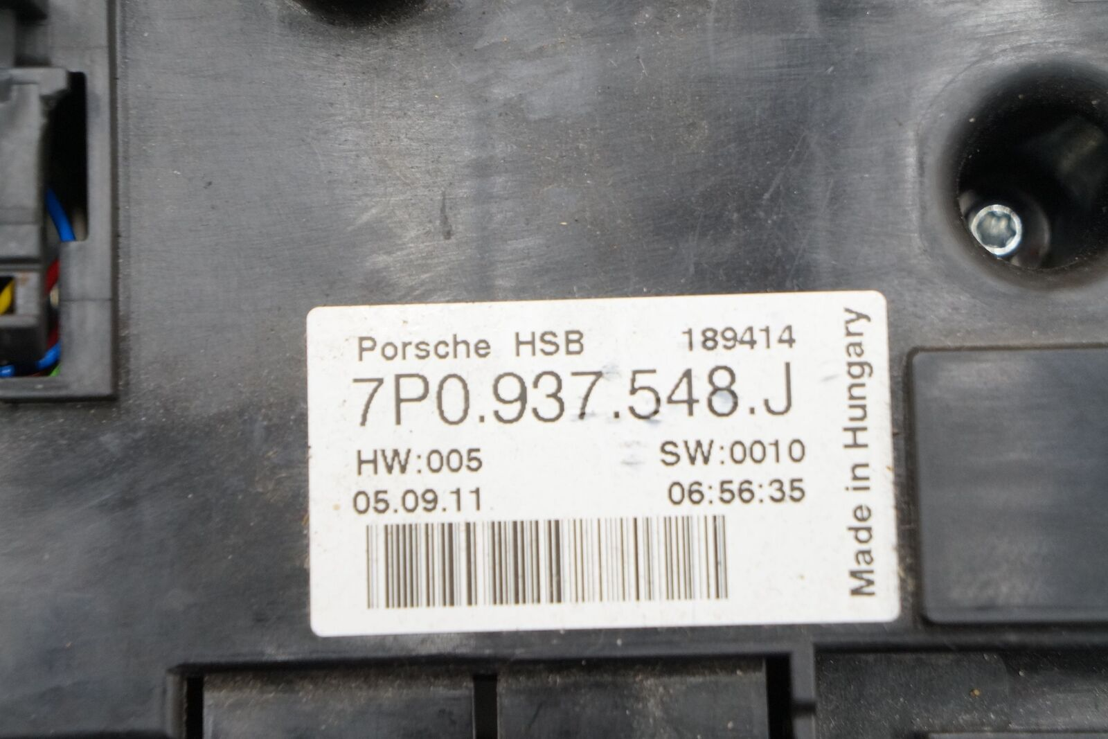 Battery Distribution Fuse Box Relay 95861030810 Porsche ...
