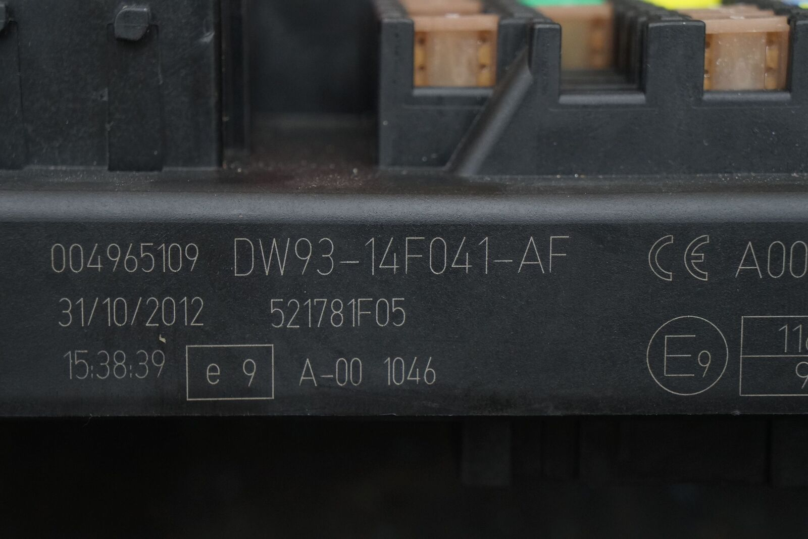 Body Processor Control Module Fuse Box ...
