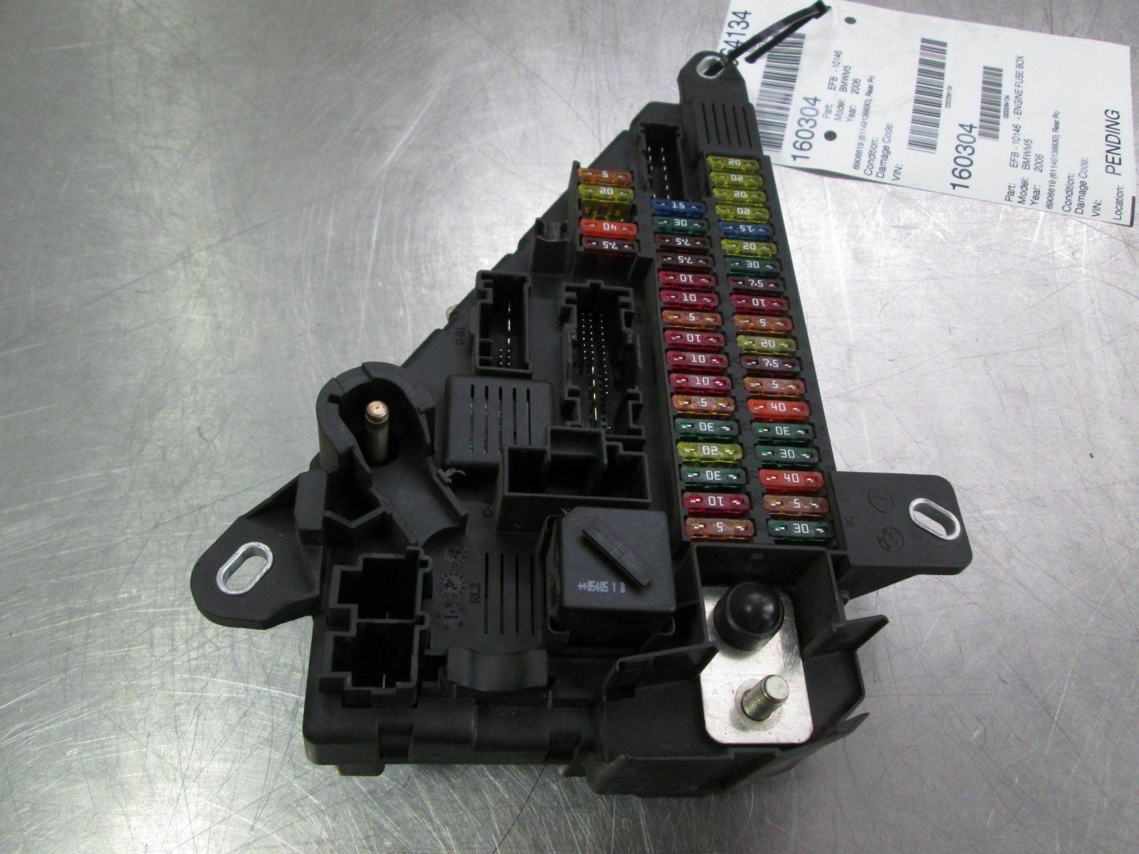hight resolution of rear power distribution fuse box 61149138830 bmw m5 e60