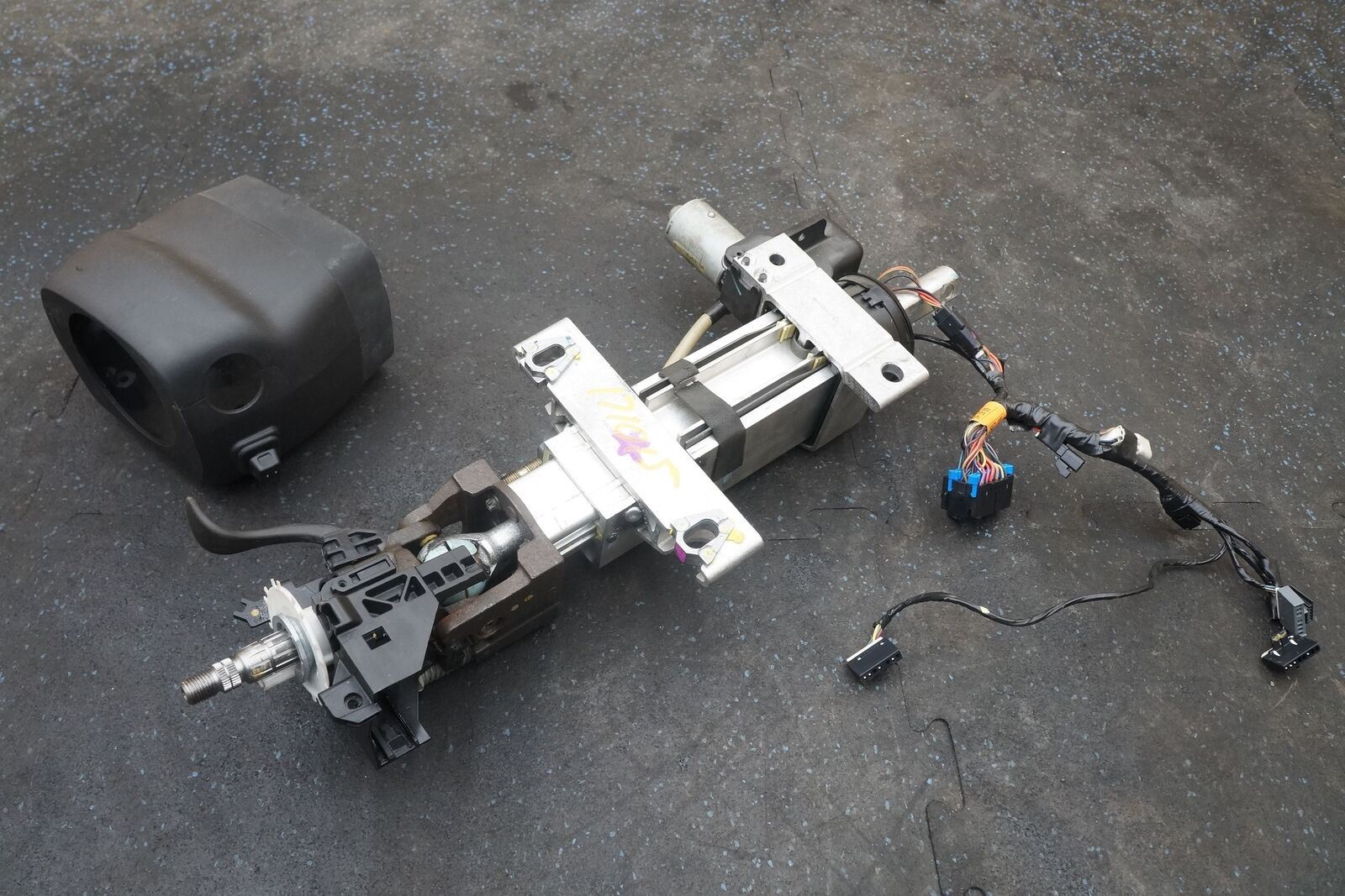 hight resolution of steering column assembly