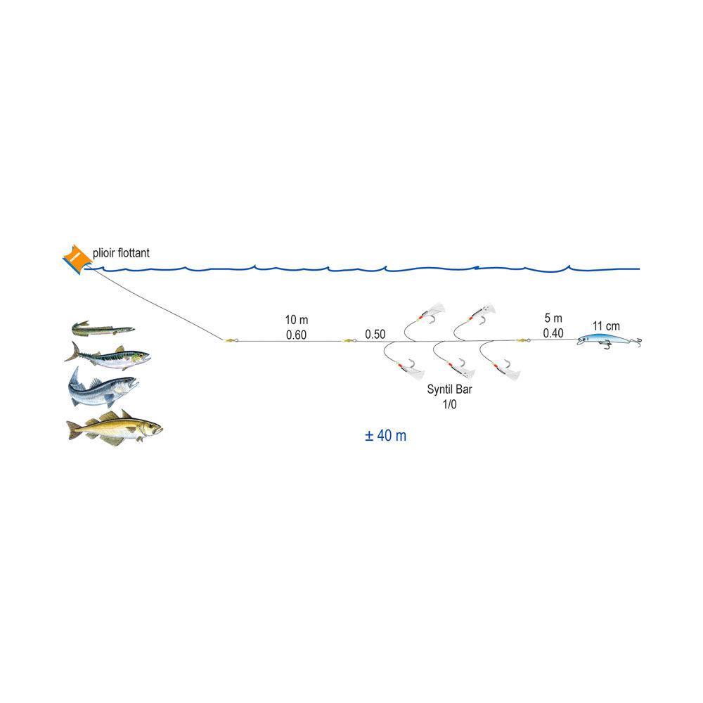 ligne de traine flashmer eco line poisson nageur