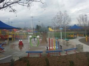 Spray Test at Splash Pad at Margarita Park