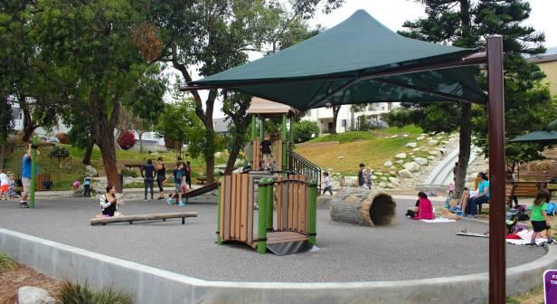 Hermosa Beach playground shade umbrella