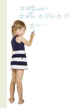 Child learning mathematics
