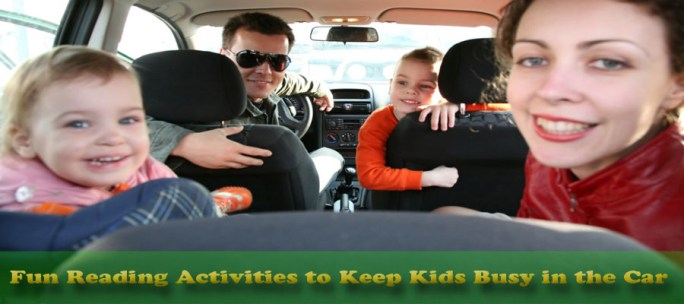 Reading activities for kids in car